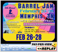 8th Annual Barrel Jam for the Benefit of St. Jude Children's Research Hospital, Agricenter Showplace Arena, Memphis, TN ~ Feb 26-28, 2021