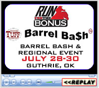 2017 Barrel Bash™ Tour and Bonus Race Finals Regional Sidepot, Lazy E Arena, Guthrie, OK - July 28-30, 2017