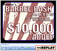 Brandon's Barrel Bash & American Qualifier, Clay County Fairgrounds, Green Cove Springs, FL - January 8-10, 2021