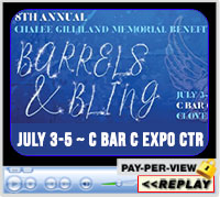 8th Annual Chalee Gilliland Memorial Barrels and Bling, C Bar C Arena, Cloverdale, IN - July 3-5,2020