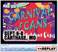 8th Annual Carnival of Cans, Lucky J Arena, Carthage, MO - September 6-8, 2019