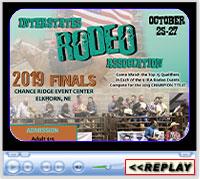 Interstates Rodeo Association 2019 Finals, Chance Ridge Event Center, Elkhorn, NE - October 25-27, 2019