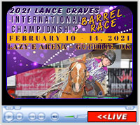 2021 Lance Graves International Barrel Race, February 11-14, 2021, Lazy E Arena, Guthrie, OK