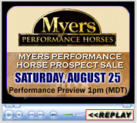 2018 Myers Performance Horse Prospect Sale - Aug 25, 2018