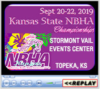 2019 NBHA Kansas State Championships, Stormont Vail Events Center, Topeka, KS - Sept 20-22, 2019