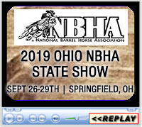 Ohio NBHA State Show, Champions Center Arena, Springfield, OH - Sept 26-29, 2019