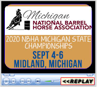 2020 NBHA Michigan State Championships, Midland County Fairgrounds, Midland, MI - September 4-6, 2020