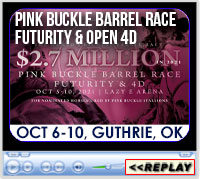 Pink Buckle Barrel Race and Horse Sale, Lazy E Arena, Guthrie, OK - October 6-10. 2021