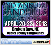 2nd Annual Sandhills Showdown, Custer County Fairgrounds, Broken Bow, NE - April 20-22, 2018