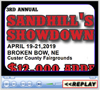 3rd Annual Sandhills Showdown, Broken Bow, NE - April 19-21, 2019