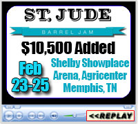 St Jude Barrel Jam, Shelby Showplace Arena, Agricenter, Memphis, TN - Feb 23-25, 2018