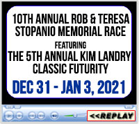 10th Annual Rob & Teresa Stopanio Memorial Race featuring the 5th Annual Kim Landry Classic Futurity, The Southeastern Livestock Pavilion, Ocala, FL - December 31 - January 3, 2021