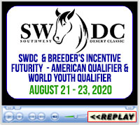 Southwest Desert Classic & Breeder's Incentive Futurity, American Qualifier & World Youth Qualifier, Blackhawk Arena, Salina, UT - August 21-23, 2020